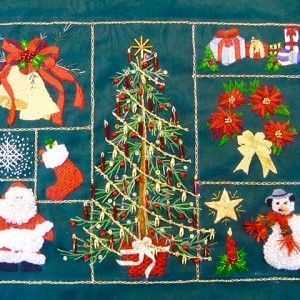 Christmas Panel by Daaft Designs Embroidery