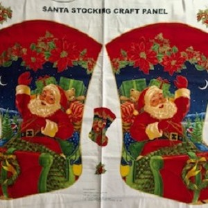 Santas Sleigh Christmas Stocking Panel