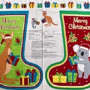 Aussie Christmas Stocking Panel