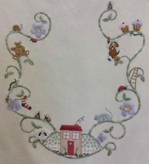 The Bean Stalk Baby Blanket Pattern by Robyn Rich