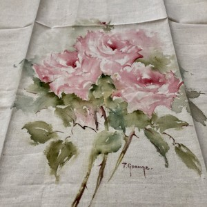 Pink Roses Hand Painted Panel