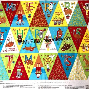 Aussie Christmas Bunting Panel