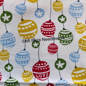 Christmas Bauble Cotton Fabric