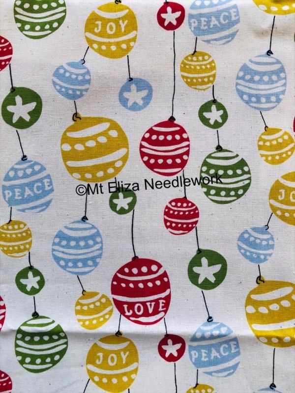 Christmas Bauble Fabric