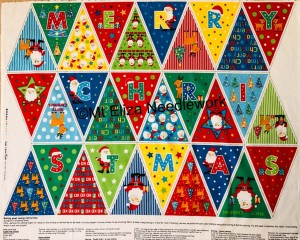 Merry Christmas Bunting Panel
