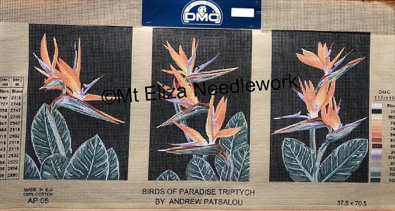 Birds of Paradise Triptych Tapestry