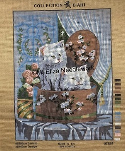Cats in a Box Tapestry