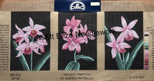 Orchids Triptych Tapestry