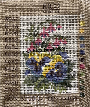 Pansies and Fuchsias Tapestry