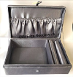 Satin Jewellery Box in Silver