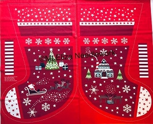 Christmas Glow Stocking Panel