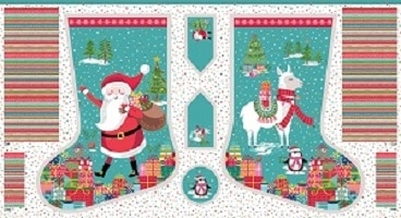 Let it Snow Stocking Panel