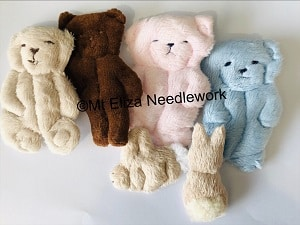 Velour Teddy and Bunny Appliques
