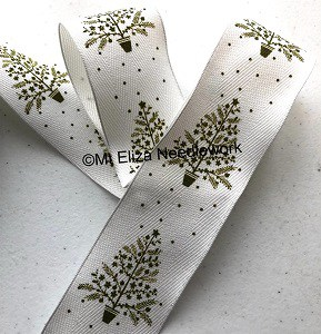 Wire Edged Christmas Tree Ribbon