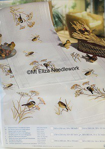 Wren Embroidered Tablecloth Kit