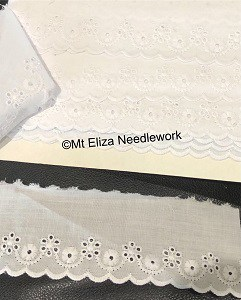 White Broderie Anglaise Lace