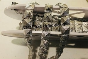 Silver Mini Square Braid