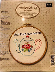 The Floral Teapot Embroidery Kit