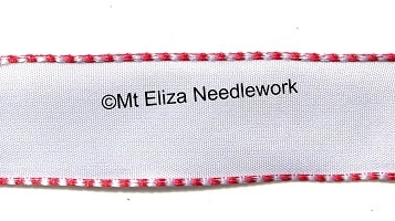 White Wire Edged Ribbon